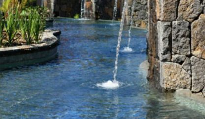 Water Feature at Lux* Le Morne Spa